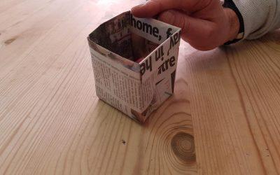 Making environmentally friendly newspaper pots